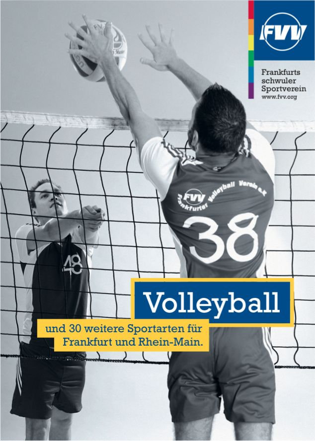 postkarte a6 volleyball alt